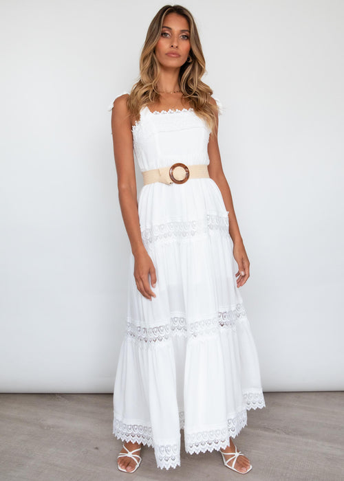 Springtime Maxi Dress - White