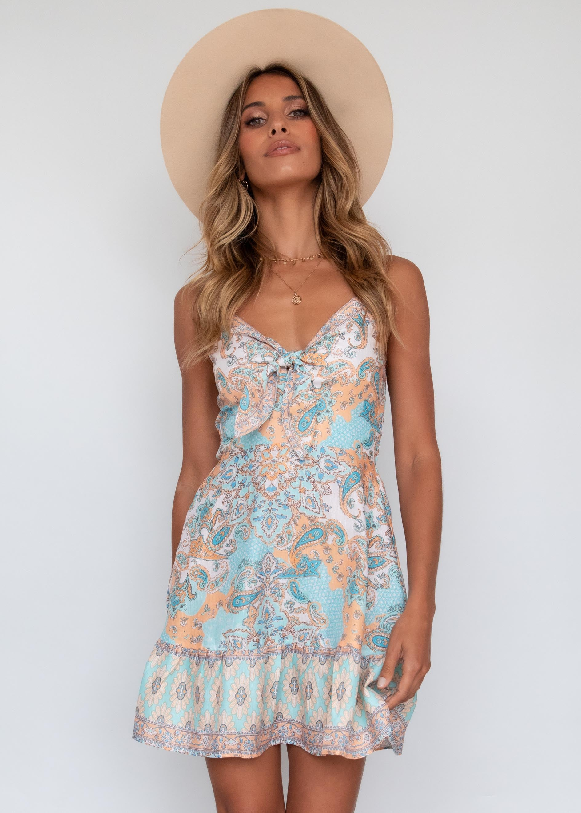 Northern Rivers Dress - Sage Paisley