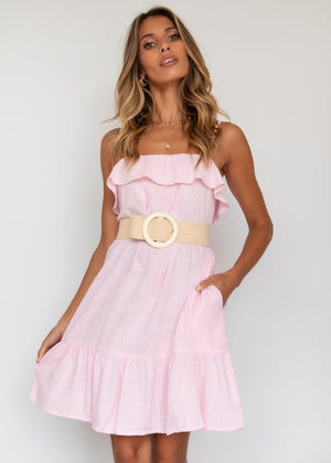 Beating Hearts Dress - Blush