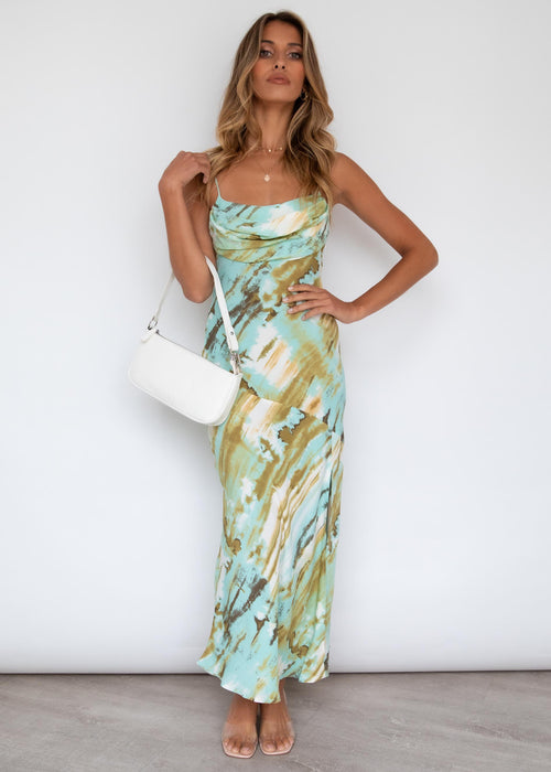 Panya Maxi Dress - Sage Watercolour