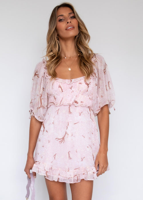 Feeling Lucky Dress - Blush Floral