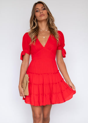 Flannery Dress - Red