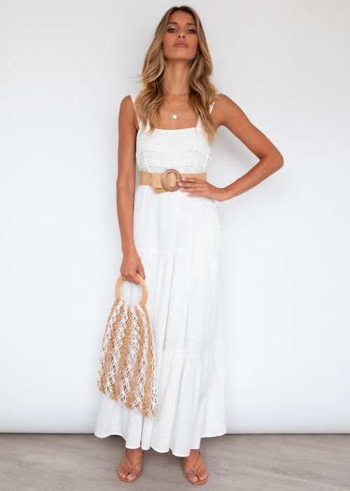 Axelle Maxi Dress - Off White