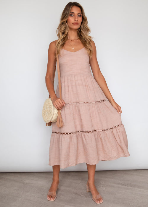 Nerissa Midi Dress - Blush