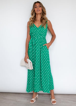 Oakes Maxi Dress - Emerald Spot