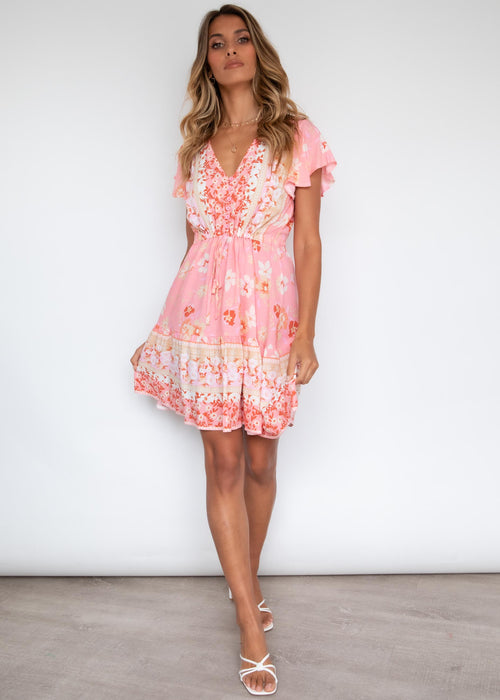 Zeela Dress - Pink Blossom