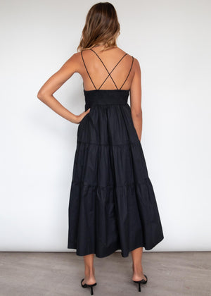 Rafiki Midi Dress - Black