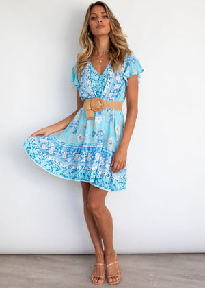 Zeela Dress - Blue Blossom