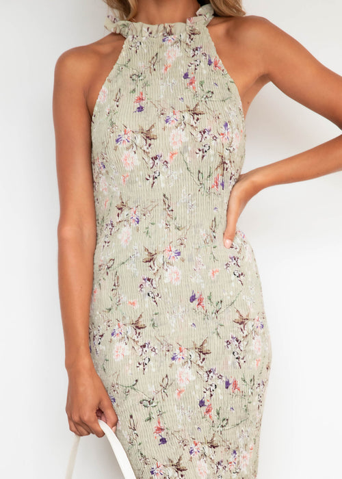 Gracella Midi Dress - Sage Floral