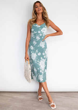 Sunset Fling Midi Dress - Sage Roses