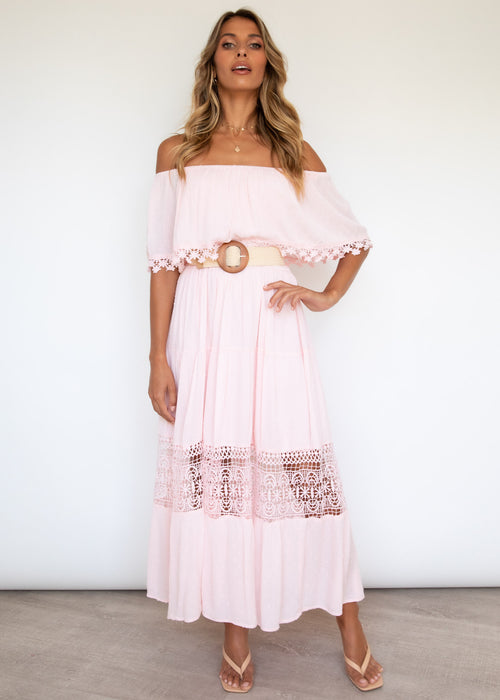 Annalee Maxi Dress - Baby Pink