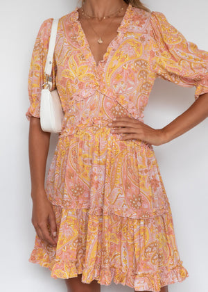 Forever Young Dress - Pink Garden
