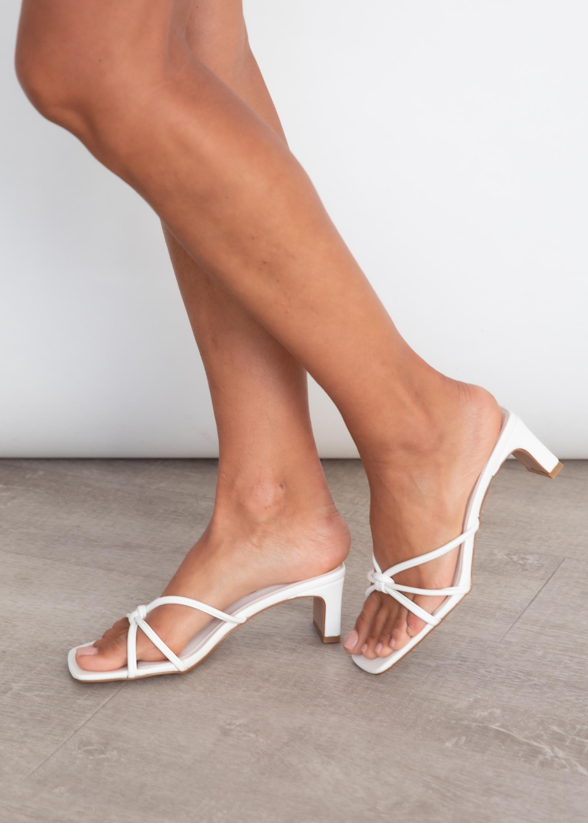 Grace Heel - White