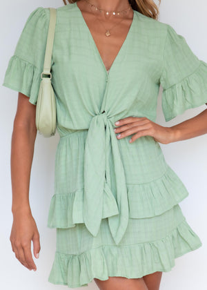 Brodie Tie Dress - Mint