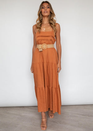 Axelle Maxi Dress - Rust