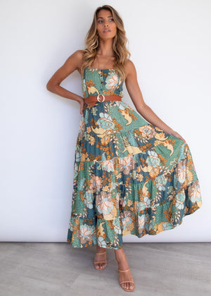 Bea Maxi Dress - Enchanted Forest