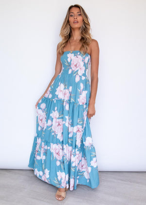 Claudia Maxi Dress - Azure