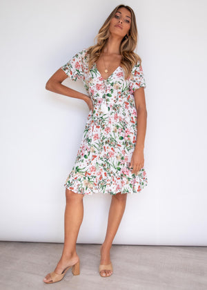 Alden Swing Dress - Garden Lillies