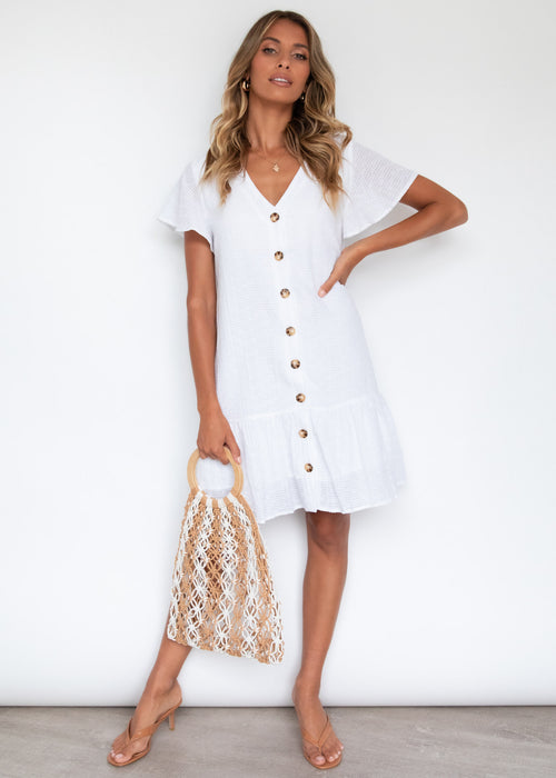 Zoey Smock Dress - Off White