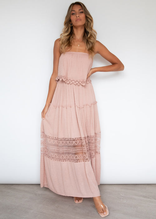 Steps Apart Maxi Dress - Blush