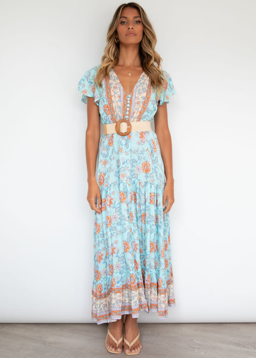 Sunny Again Maxi Dress - Country Blue