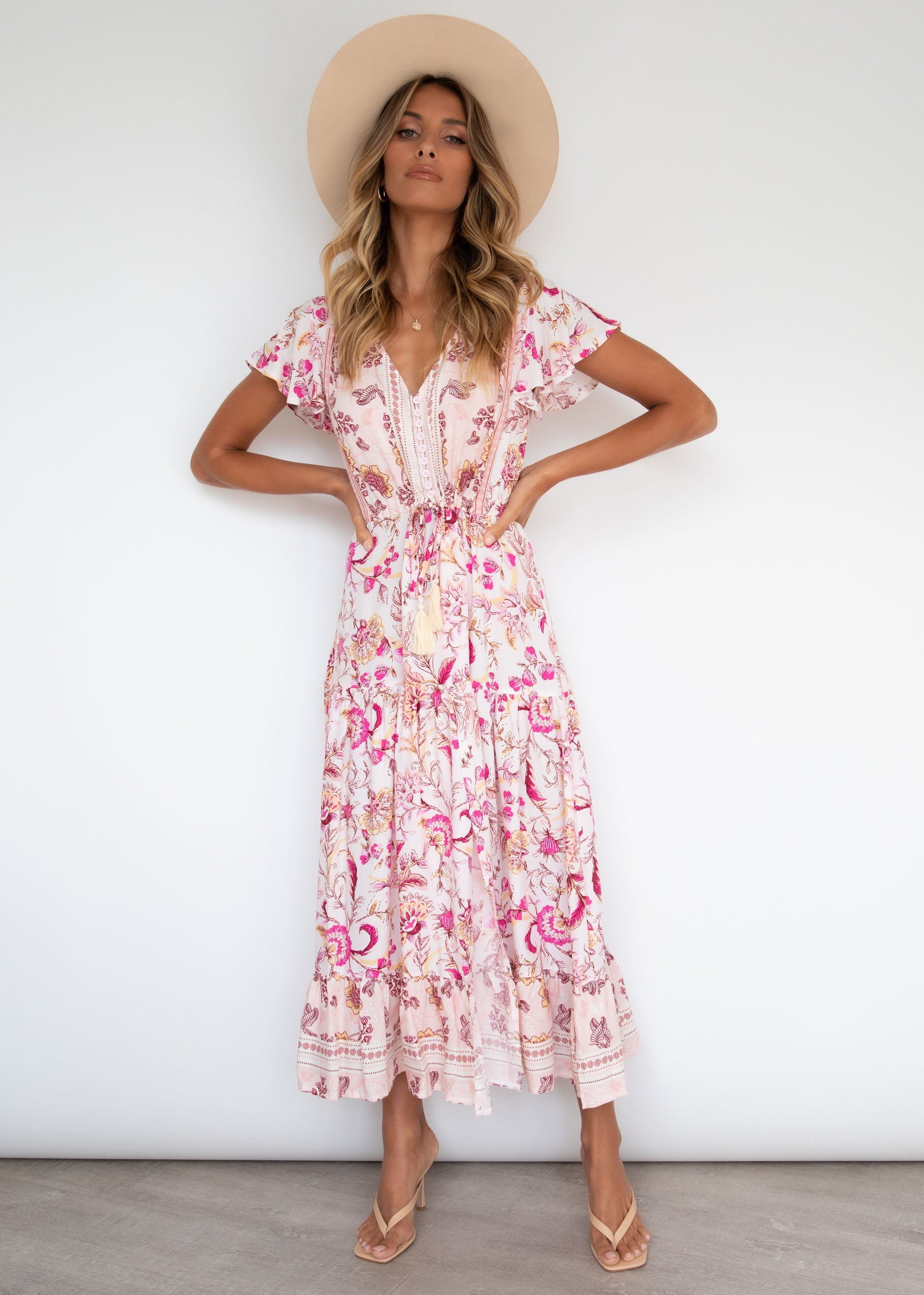 Love Affair Maxi Dress - Fuchsia Blossom