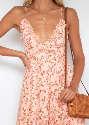 Jaxon Midi Dress - Blush Blossom