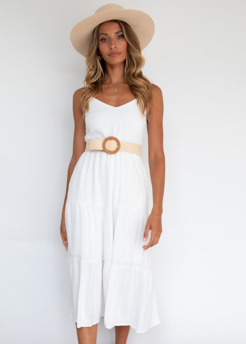 Elkin Midi Dress - Off White