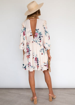 Better Off Swing Dress - Peony