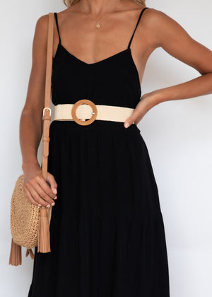 Elkin Midi Dress - Black