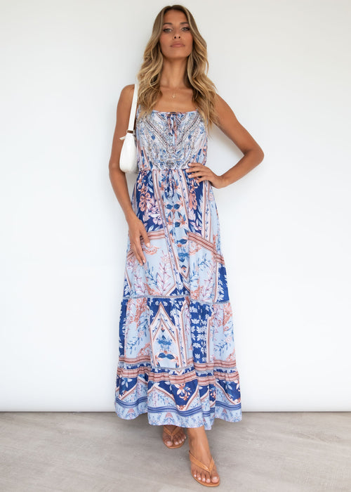 Meet You There Maxi Dress - Cobalt Sky