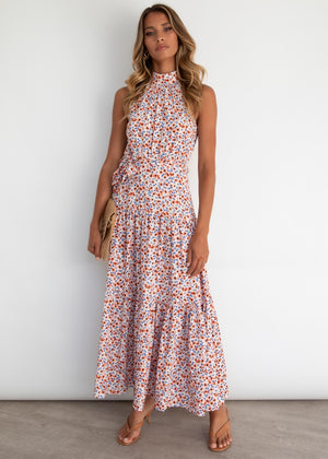 Katrina Maxi Dress - Red Poppies