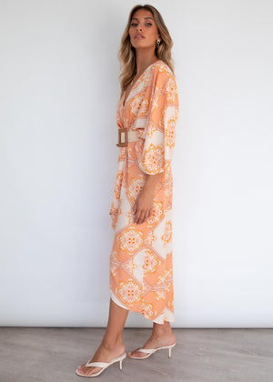 Nhulla Hi-Lo Maxi Dress - Havana