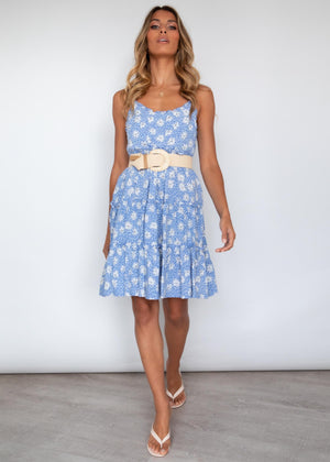 Tatiana Swing Dress - Blue Floral
