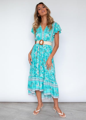Wild Maiden Midi Dress - Wild Aster