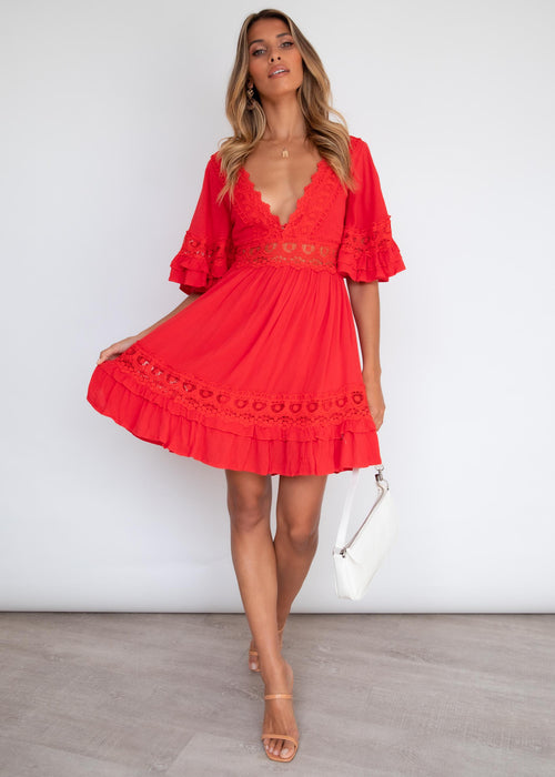 Love Language Dress - Scarlet