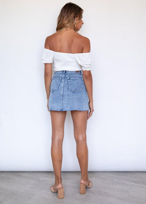 Kampala Denim Skirt - Acid Wash