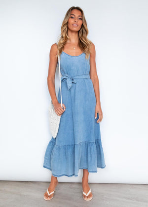 Kooper Midi Dress - Chambray Denim