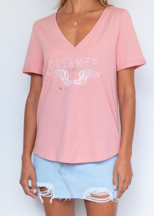 Midnight Dreamer Tee - Rose Pink