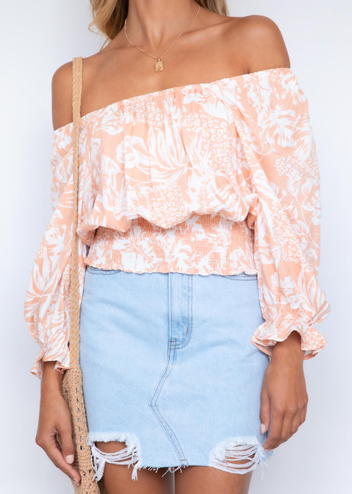 Rayanne Top - Peach Cabana