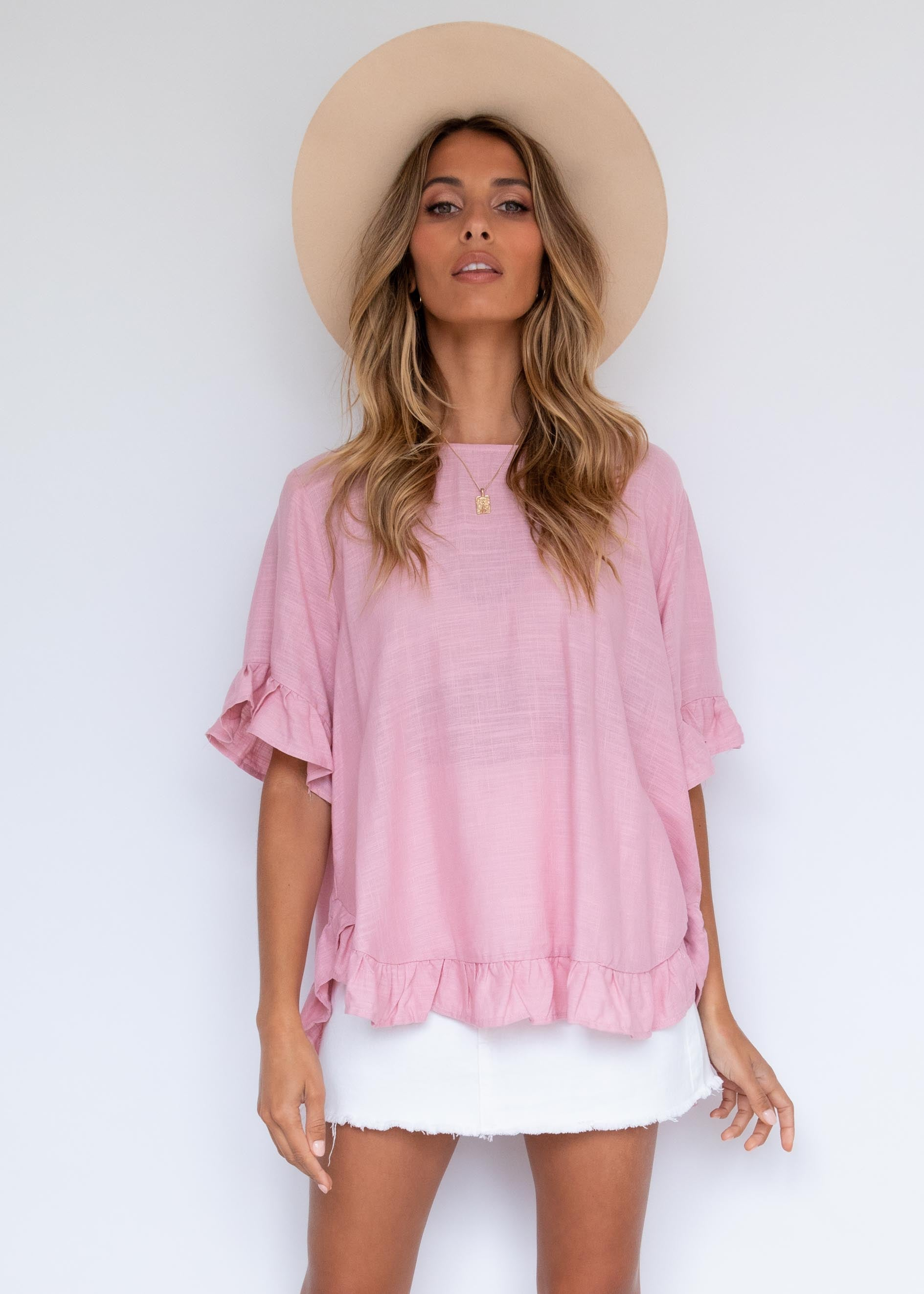 Samantha Blouse - Blush