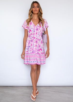 Havanah Dress - Bubblegum