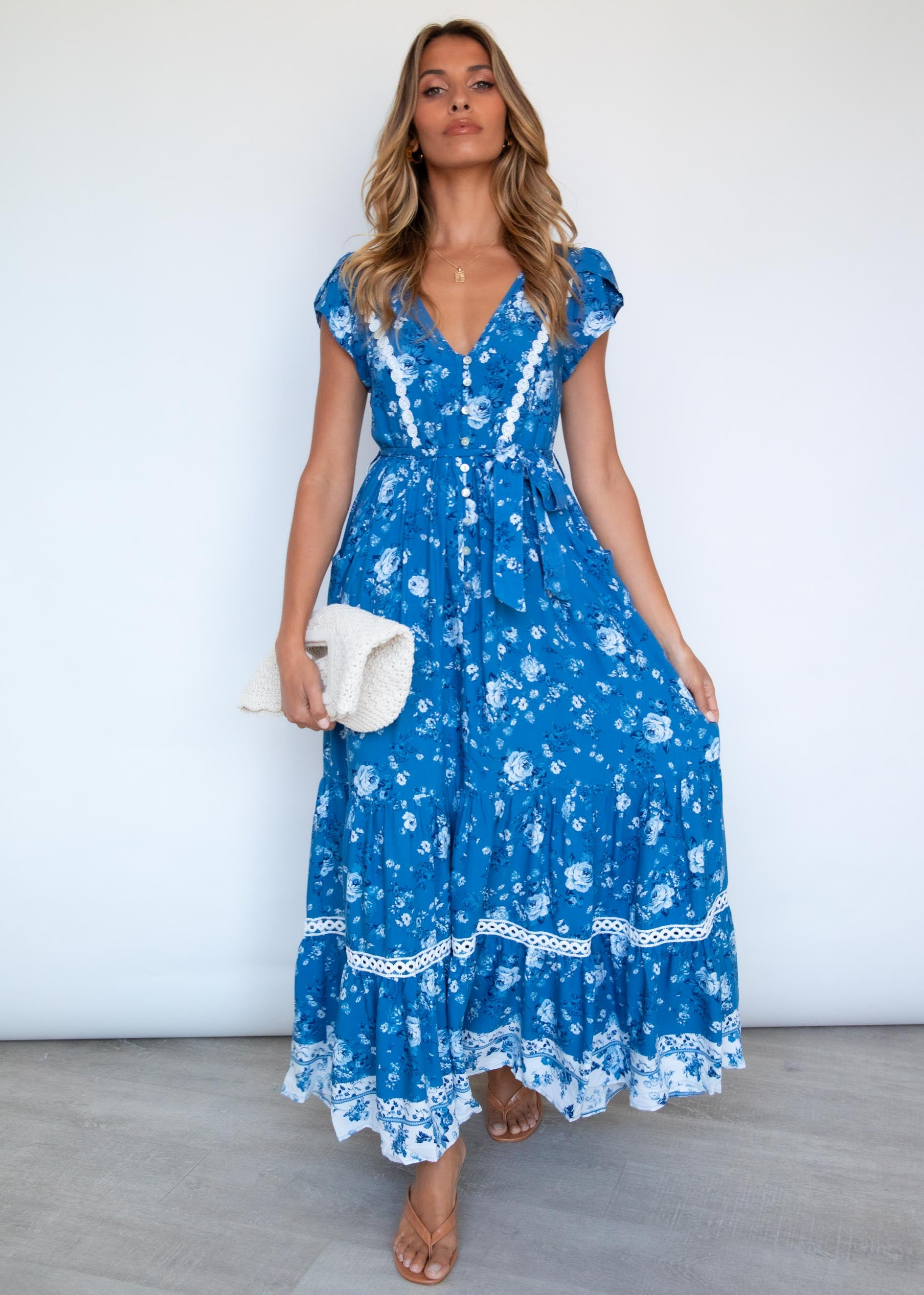 Zienna Maxi Dress - Floral Nights