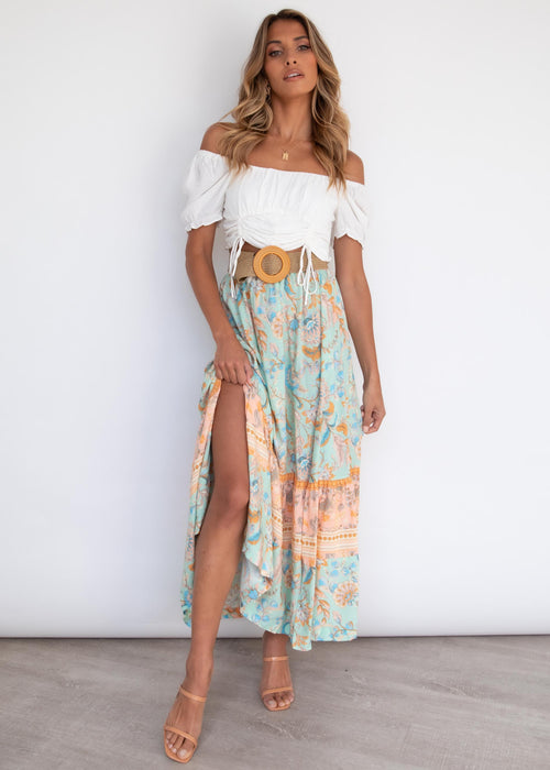 Asha Maxi Skirt - Honeydew