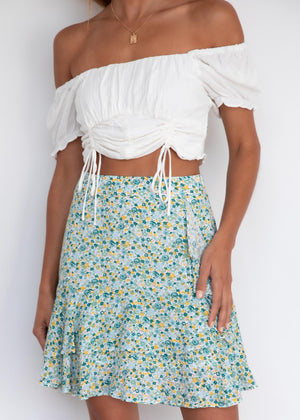 Azariah Skirt - Mint Floral