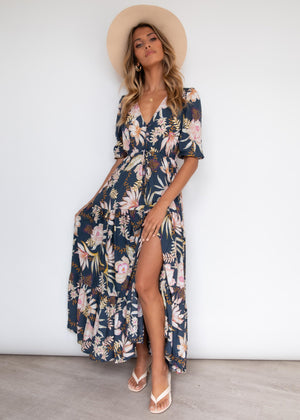 Tessa Maxi Dress - Night Blooms