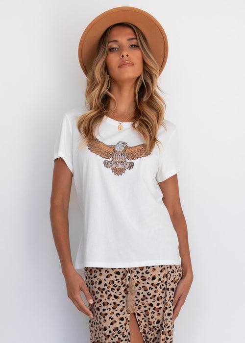 Wild At Heart Tee - White