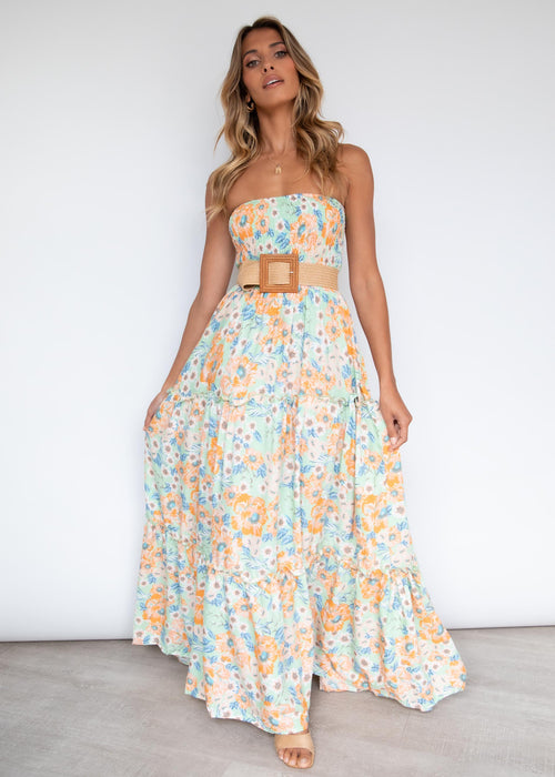 Claudia Maxi Dress - Mint Garden