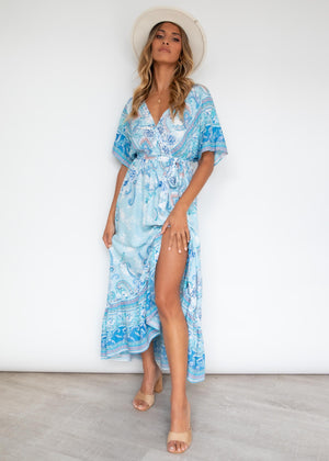 Jaeton Midi Dress - Sea Breeze