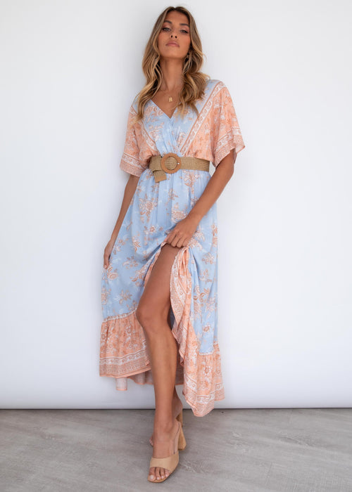 Jaeton Midi Dress - Pastel Dreams